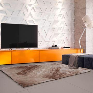 Imagem de TAPETE 1,40X2,00 FASHION 3D GEOMETRICAL PALHA MAGAZINE GOIÁS