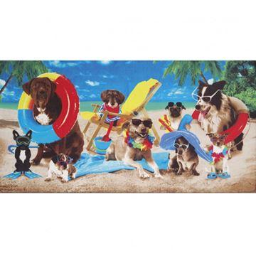 Imagem de TOALHA DE BANHO PRAIA DOHLER  DOGS AT THE BEACH