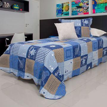 Imagem de COLCHA BOUTI HOME DECOR KIDS SOLTEIRO 1,60 X 2,40 BASEBALL