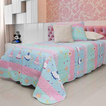 Imagem de Colcha Bouti Home Decor Kids Solteiro 1,60mx2,40m Bonecas