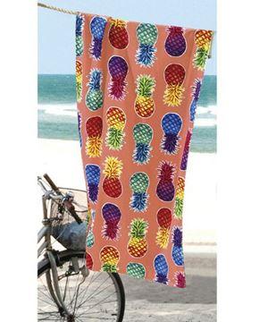 Imagem de Toalha de Banho Praia Dolher Colorful Pineaplles