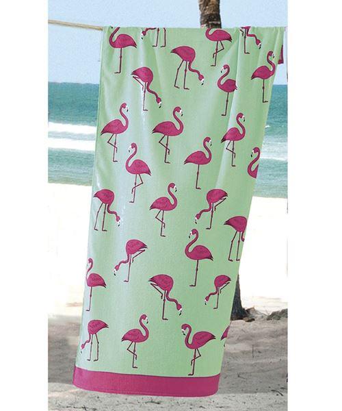 Imagem de Toalha de Banho Praia Dolher Multi Flamingos