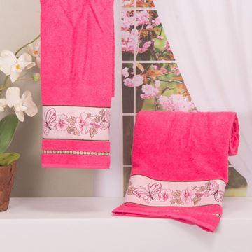 Imagem de Toalha Dolher Jacquard Premium Borboleta Rosto Pink