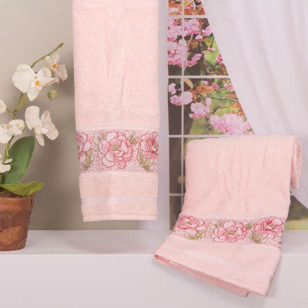 Imagem de Toalha Dolher Jacquard Premium Flor Banho Rosé