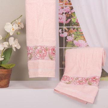 Imagem de Toalha Dolher Jacquard Premium Flor Rosto Rosé