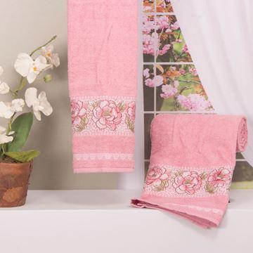 Imagem de Toalha Dolher Jacquard Premium Flor Rosto Rosa