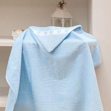 Imagem de Toalha Banho com Capuz Classic Dolher Azul