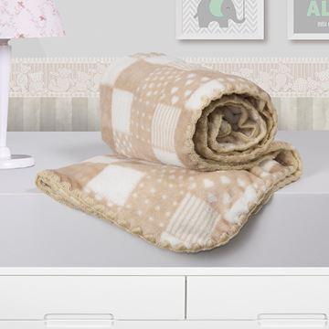 Imagem de Cobertor Baby Microfibra Camesa Patchwork Bege