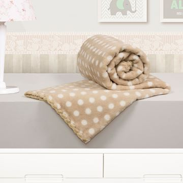 Imagem de Cobertor Baby Microfibra Camesa Poá Bege