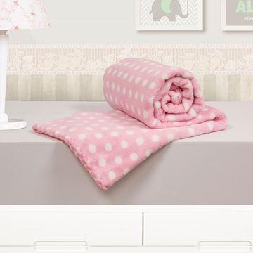 Imagem de Cobertor Baby Microfibra Camesa Poá Rosa