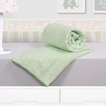 Imagem de Cobertor Baby Microfibra Camesa Poá Verde