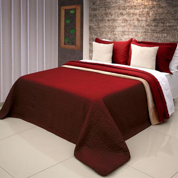 Imagem de Colcha Bouti Home Decor Lisa Queen Vermelho