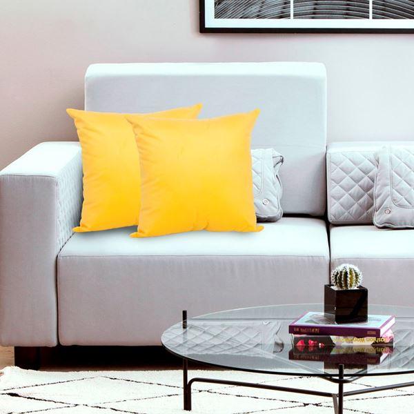 Imagem de Almofada Velvet 45x45 Amarelo