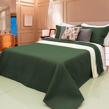 Imagem de Colcha Harmony 2,40x2,60m Queen Verde Musgo
