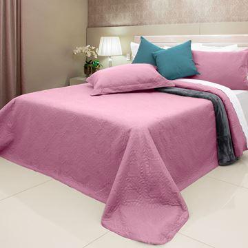 Imagem de Colcha Elegance Ultrasonic Arabesco Solteiro 1,60x2,40m Rosa