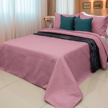 Imagem de Colcha Elegance Ultrasonic Flores  Solteiro 1,60x2,40m Rosa