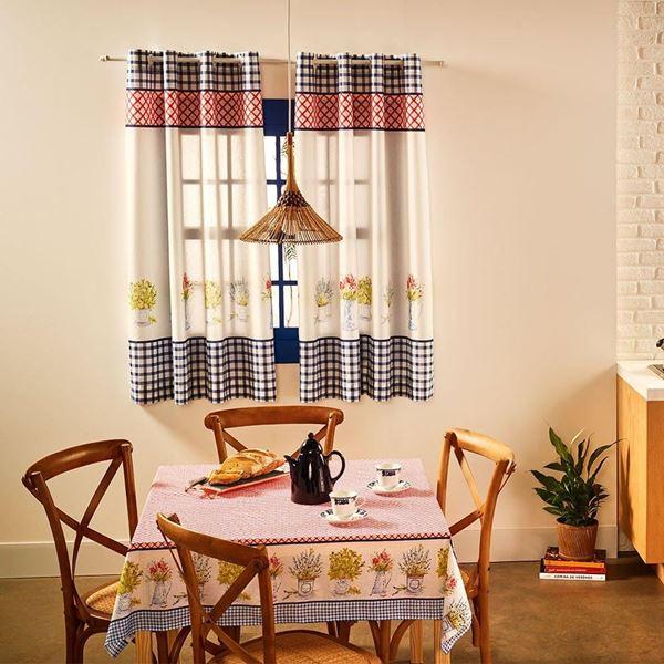 Imagem de Cortina Cozinha Toscana Basic estampada  2,60x1,40m Mille