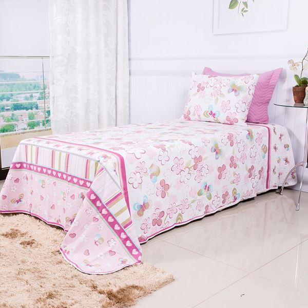 Imagem de Jogo de Cama Malha Premium Plus Solteiro Butterfly