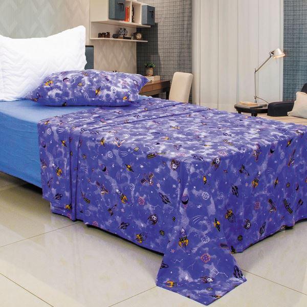 Imagem de Jogo de Cama Malha Premium Plus Solteiro Space